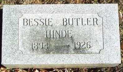 BUTLER HINDE, BESSIE MAE - Plymouth County, Iowa | BESSIE MAE BUTLER HINDE