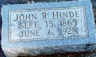 HINDE, JOHN ROBERT - Plymouth County, Iowa   JOHN ROBERT HINDE