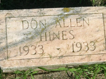 HINES, DON ALLEN - Plymouth County, Iowa   DON ALLEN HINES