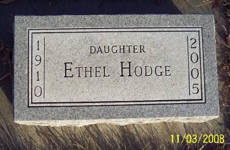 HODGE, ETHEL - Plymouth County, Iowa | ETHEL HODGE