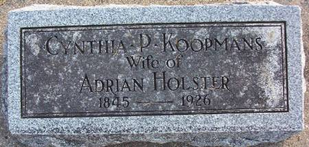 KOOPMANS HOLSTER, CYNTHIA P. - Plymouth County, Iowa   CYNTHIA P. KOOPMANS HOLSTER