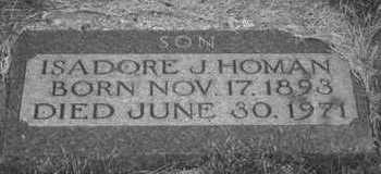 HOMAN, ISADORE J. - Plymouth County, Iowa | ISADORE J. HOMAN