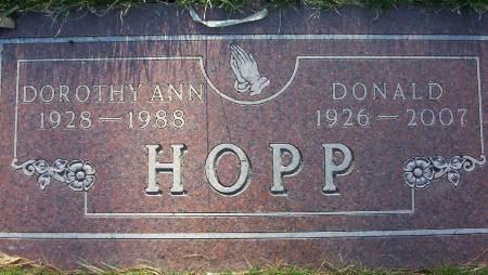 HOPP, DOROTHY ANN - Plymouth County, Iowa | DOROTHY ANN HOPP