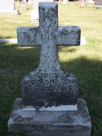 HUNTINGTON, JOHN SIMON CLARKE - Plymouth County, Iowa | JOHN SIMON CLARKE HUNTINGTON