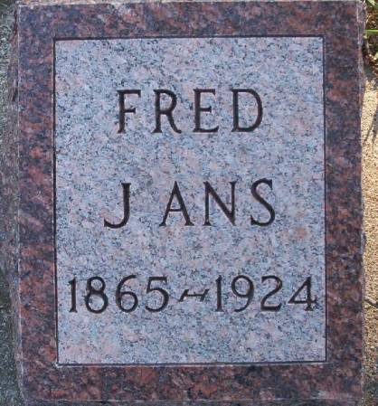 JANS, FRED - Plymouth County, Iowa   FRED JANS