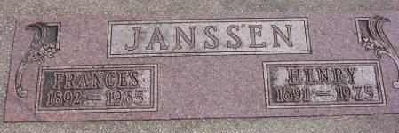 JANSSEN, HENRY - Plymouth County, Iowa | HENRY JANSSEN