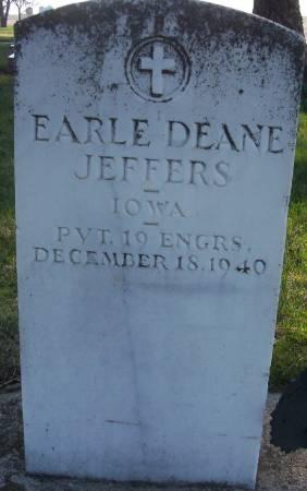 JEFFERS, EARLE DEANE - Plymouth County, Iowa | EARLE DEANE JEFFERS