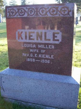 MILLER KIENLE, LOUISA - Plymouth County, Iowa | LOUISA MILLER KIENLE