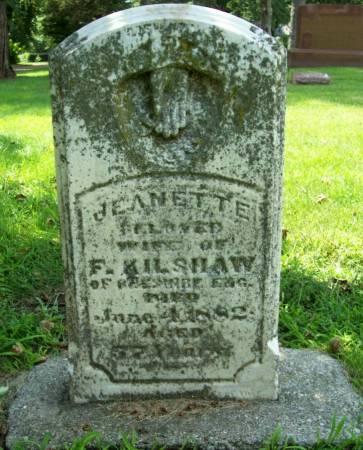 KILSHAW, JEANETTE - Plymouth County, Iowa | JEANETTE KILSHAW