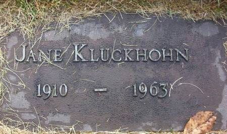 KLUCKHOHN, JANE - Plymouth County, Iowa | JANE KLUCKHOHN