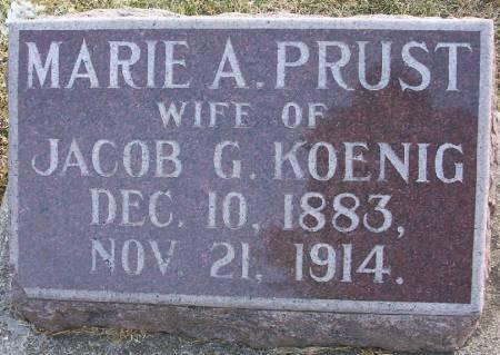 PRUST KOENIG, MARIE A. - Plymouth County, Iowa | MARIE A. PRUST KOENIG