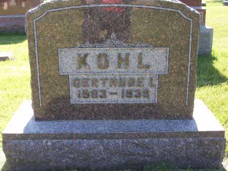 KOHL, GERTRUDE L. - Plymouth County, Iowa   GERTRUDE L. KOHL