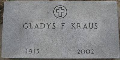 KRAUS OR KRAUSE, GLADYS F. OR D. - Plymouth County, Iowa   GLADYS F. OR D. KRAUS OR KRAUSE