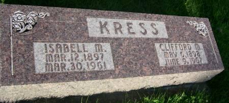 KRESS, ISABELL M. - Plymouth County, Iowa | ISABELL M. KRESS