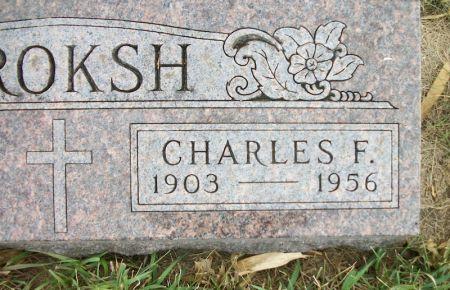 KROKSH, CHARLES F. - Plymouth County, Iowa | CHARLES F. KROKSH