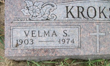 KROKSH, VELMA S. - Plymouth County, Iowa   VELMA S. KROKSH