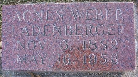 WEBER LADENBERGER, AGNES G. - Plymouth County, Iowa | AGNES G. WEBER LADENBERGER