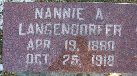 LANGENDORFER, NANNIE A. - Plymouth County, Iowa | NANNIE A. LANGENDORFER