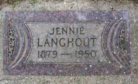 LANGHOUT, JENNIE - Plymouth County, Iowa | JENNIE LANGHOUT