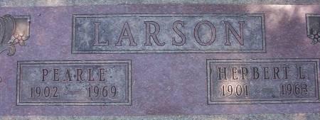 LARSON, PEARLE - Plymouth County, Iowa | PEARLE LARSON