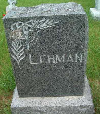LEHMAN, FAMILY STONE - Plymouth County, Iowa | FAMILY STONE LEHMAN