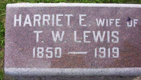 LEWIS, HARRIET E. - Plymouth County, Iowa | HARRIET E. LEWIS
