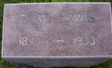 LEWIS, THOMAS WARD - Plymouth County, Iowa | THOMAS WARD LEWIS