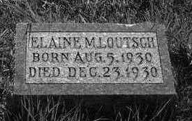 LOUTSCH, ELAINE M. - Plymouth County, Iowa   ELAINE M. LOUTSCH