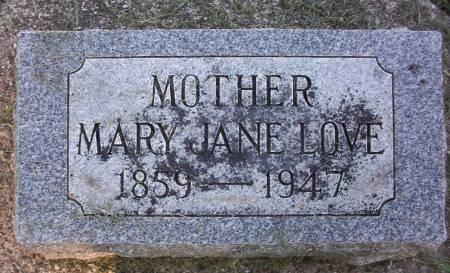 LOVE, MARY JANE - Plymouth County, Iowa | MARY JANE LOVE