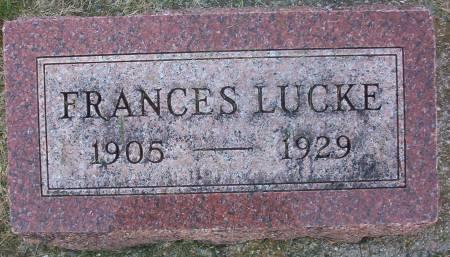 LUCKE, FRANCES - Plymouth County, Iowa | FRANCES LUCKE