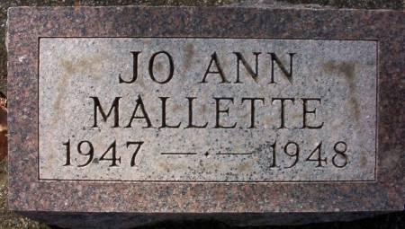 MALLETTE, JO ANN - Plymouth County, Iowa   JO ANN MALLETTE