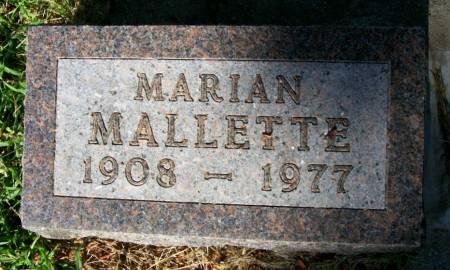 MALLETTE, MARIAN - Plymouth County, Iowa | MARIAN MALLETTE