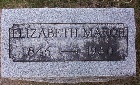 COOK MARCH, ELIZABETH - Plymouth County, Iowa | ELIZABETH COOK MARCH
