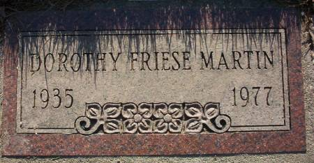 FRIESE MARTIN, DOROTHY - Plymouth County, Iowa | DOROTHY FRIESE MARTIN