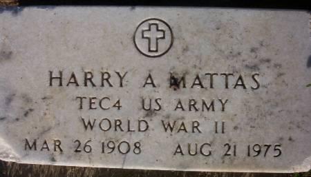 MATTAS, HARRY A. - Plymouth County, Iowa | HARRY A. MATTAS