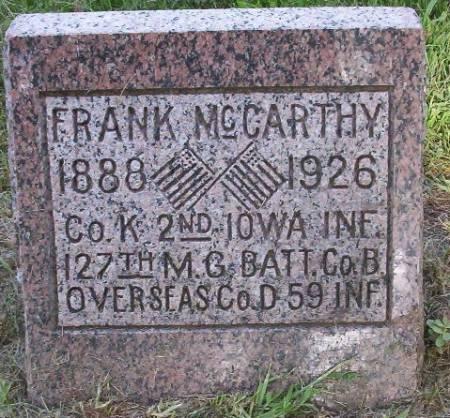 MCCARTHY, FRANK - Plymouth County, Iowa | FRANK MCCARTHY