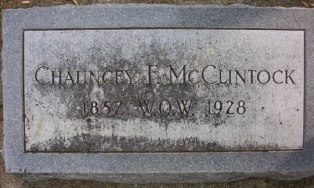MC CLINTOCK, CHAUNCEY F. - Plymouth County, Iowa   CHAUNCEY F. MC CLINTOCK