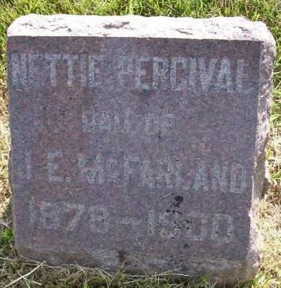 MC FARLAND, NETTIE PERCIVAL - Plymouth County, Iowa | NETTIE PERCIVAL MC FARLAND