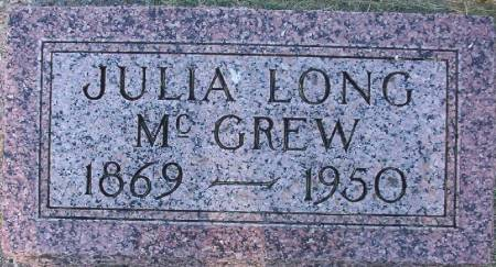 LONG MCGREW, JULIA - Plymouth County, Iowa | JULIA LONG MCGREW
