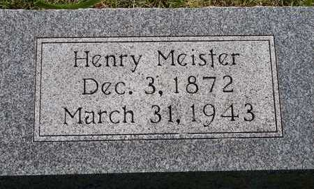 MEISTER, HENRY - Plymouth County, Iowa | HENRY MEISTER