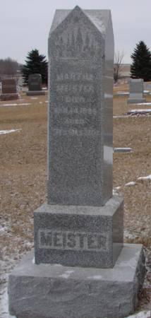 REINHART MEISTER, MARTHA - Plymouth County, Iowa | MARTHA REINHART MEISTER