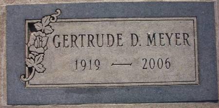 MANN MEYER, GERTRUDE DORIS - Plymouth County, Iowa | GERTRUDE DORIS MANN MEYER