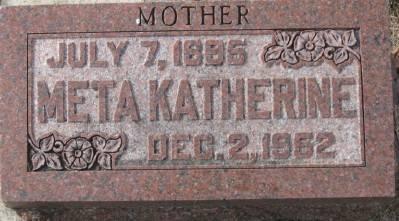 MORRIS, META KATHERINE - Plymouth County, Iowa   META KATHERINE MORRIS