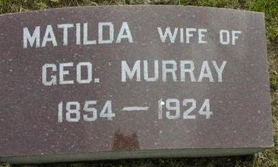 MURRAY, MATILDA - Plymouth County, Iowa | MATILDA MURRAY