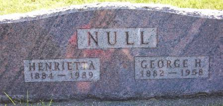 NULL, GEORGE H. - Plymouth County, Iowa | GEORGE H. NULL