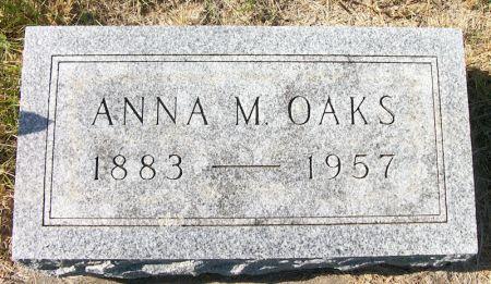 OAKS, ANNA M. - Plymouth County, Iowa   ANNA M. OAKS