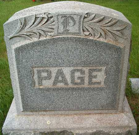 PAGE, FAMILY STONE - Plymouth County, Iowa | FAMILY STONE PAGE