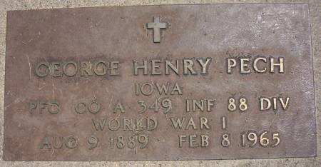 PECH, GEORGE HENRY - Plymouth County, Iowa | GEORGE HENRY PECH