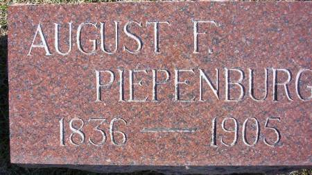 PIEPENBURG, AUGUST F. - Plymouth County, Iowa | AUGUST F. PIEPENBURG