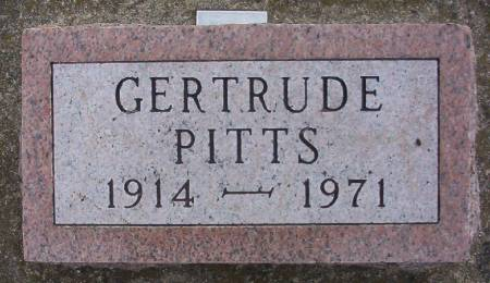 PITTS, GERTRUDE - Plymouth County, Iowa   GERTRUDE PITTS